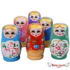 5Pcs/Set Wooden Russian Dolls Matryoshka Babushka Nesting Toys Hand Painted Gift