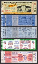 5 1958-1963  BASEBALL ALL-STAR GAME VINTAGE UNUSED FULL TICKETS 58 59 60 61 63