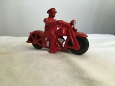 Antique Cast Iron Hubley Patrol Motorcycle w Rider 1930s