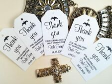 10 Gift Tags Baptism Christening Confirmation Bomboniere Personalised Holy Commu