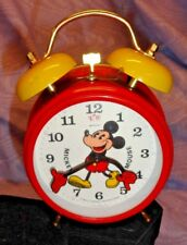 Vintage Mickey Mouse Alarm Clock Bradley Made in Germany Excellent Condition