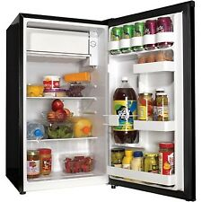 3.3 cu ft Compact Refrigerator Black Haier Mini Fridge Office Dorm Game Room