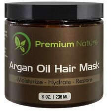Argan Oil Hair Mask Deep Conditioner - 8 oz Leave In Conditioner Sulfate Free -