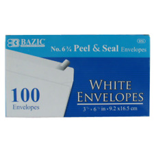"""100 Peel and Self-Seal White Letter Mailing Envelopes Shipping 3-5/8"""" x 6-1/2"""""""