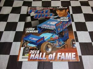 Flat Out Magazine June 2018 Sprint Car Racing Mag 2018 Hall of Fame