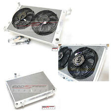 86-92 Supra MA70 JZA70 Turbo 7mgte 2 Row Performance Radiator+Slim Fan x 2