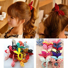 Fashion 10pcs Hair Tie Band Ponytail Holder Elastic Rubber Clear Women ab
