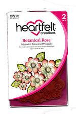 Heartfelt Creations Botanical Rose Cling Rubber Stamp