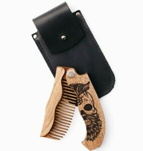 Wooden Beard Comb for Beard Gift for Man  Personalized Present