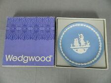 Wedgwood Jasperware Blue Mother 1976 Plate with Original Box