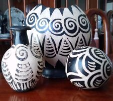 Antique Polychrome Acoma Pottery Vessels Lot of 3