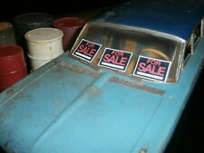 3 small FOR SALE GARAGE DIORAMA SIGNS 1:24 or 1:25 SCALE MODEL