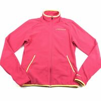 Nike Women's Pink Yellow Livestrong Full Zip Fleece Jacket Size Small