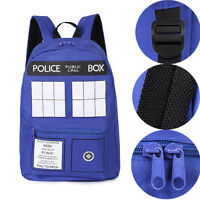 Blue Doctor Who Tardis Police Box Dr Who Backpack Shoulder Bag Rucksack