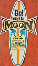 Mooneyes Surf Board Decal Sticker Beach Car Drag Strip Hot Rat Rod Woody Wagon