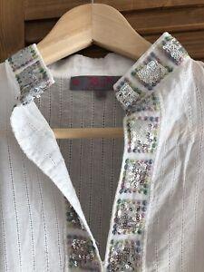 Impressionen Tunika Strandkleid Kleid M 40 Italy Bluse Ibiza Boho Top Kaftan