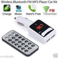 Bluetooth Wireless FM Transmitter MP3 Player Handsfree Car Kit USB SD Remote MT