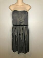 Jessica Simpson Strapless Ruffle Gray Cocktail Dress NWT Sz.10