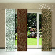 Quality Net Sheer Lace Window Panel Blind Curtain Fly Screen Slot top and bottom