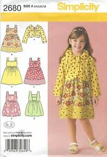 Simplicity 2680 Girls' Dress or Jumper and Jacket 3 to 8   Sewing Pattern