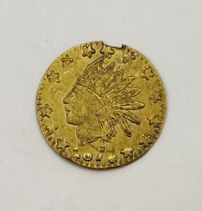 1876 California Fractional Gold 1/4 Dollar damaged L9730