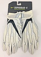 Nike Superbad 4 Padded Football Gloves Size Youth Small (White/Gray)