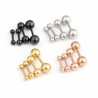 Stainless Steel Barbell Cartilage Ear Tragus Helix Stud Bar Earring Piercing New