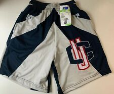 NEW Fit 2 Win UCONN Sublimated Lacrosse Athletic Shorts Youth XL Navy Gray