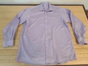 JOSEPH ABBOUD Men's 18 36/37 TALL Light Purple Dress Shirt