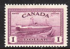 Canada Scott # 273 VF Unused 1946 $1.00 Train Ferry to Prince Edward Island