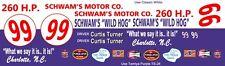 #99 Curtis Turner Schwam's Wild Hog 1956 Ford 1/24th - 1/25th Scale Decals