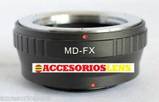 ADAPTADOR DE OBJETIVOS Minolta MD MC A FX,Fujifilm, Fuji X-Pro1, XPro1 X Pro 1
