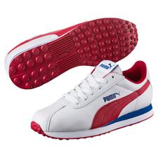 PUMA TURIN JR TRAINERS RRP £35.99 Boys WHITE RED BLUE