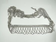 Fashion Women Silver Tassel Metal Waist Chain Belt for Belly Dance Cocktail