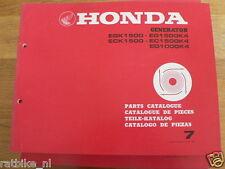 HONDA EGK1500,ECK1500EG,EC,ED AND K4  PARTS CATALOGUE 7  BOOK GENERATOR POWER
