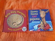 Anna Dewdney Hc Books Lot 2 ~ Roly Poly Pangolin, Llama Llama Red Pajama *
