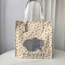 NWT Disney Dumbo Coach Tote Bag  Chalk Canvas Shoulder Bag Shopping Bag F/S