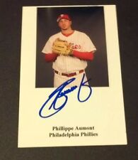PHILIPPE AUMONT PHILLIES SIGNED PHOTO