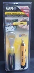 NEW Klein Tools Non-Contact Voltage Tester Pen & Collectable Bottle Opener BONUS