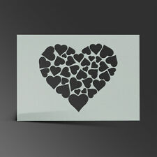 Love Heart Stencil Mylar Sheet Painting Wall Art Kids Craft 190 Micron