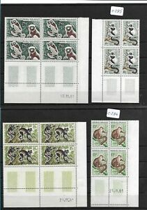 SMT, MADAGASCAR  ANIMALS luxury set  of 6 stamps in block of 4, MNH very rare