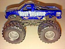 BLUE THUNDER Hot Wheels Monster Jam METAL Base 1:64 scale small hub truck
