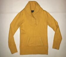 WOMEN'S M, YELLOW COLLARED NECK, KNIT SWEATER BY GUESS!