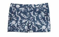 "LOFT - Womens 0 (XS) - NWT - 4"" Blue/Ivory Floral Peacock Printed Shorts"