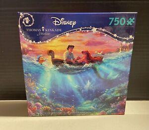 Ceaco Disney Thomas Kinkade Little Mermaid Falling In Love 750 Pc Puzzle NEW!💕