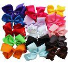 15PCS Girls 6'' Big Hair Bows Boutique Alligator Clip Grosgrain Ribbon Headband