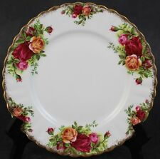 "Royal Albert Old Country Roses Floral Gold Gilt Porcelain 7"" Bread Butter Plate"