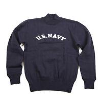 NON STOCK US Navy Turtleneck Woolen Sweater Vintage USN Military Mens Sweatshirt