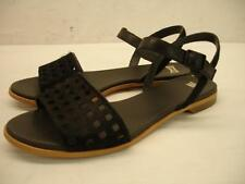 NIB Womens 10 40 Camper Twins 22607-001 Flat sandals pony hair black ankle strap