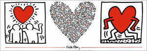 Keith HARING Untitled Hearts & Best Buddies Pop Art Litho Print
